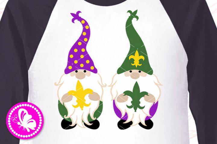 Mardi Gras Gnomes svg Beads Fleur de Lis Louisiana parade