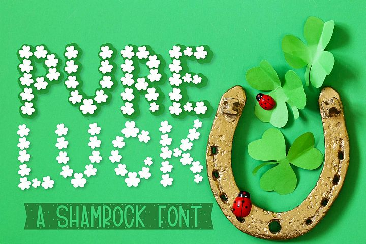 Pure Luck - A Shamrock Font Duo