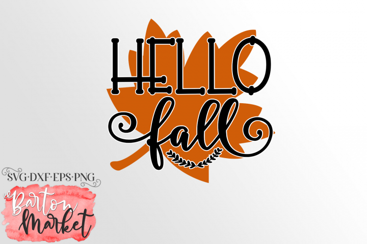 Hello Fall SVG DXF EPS PNG example 1