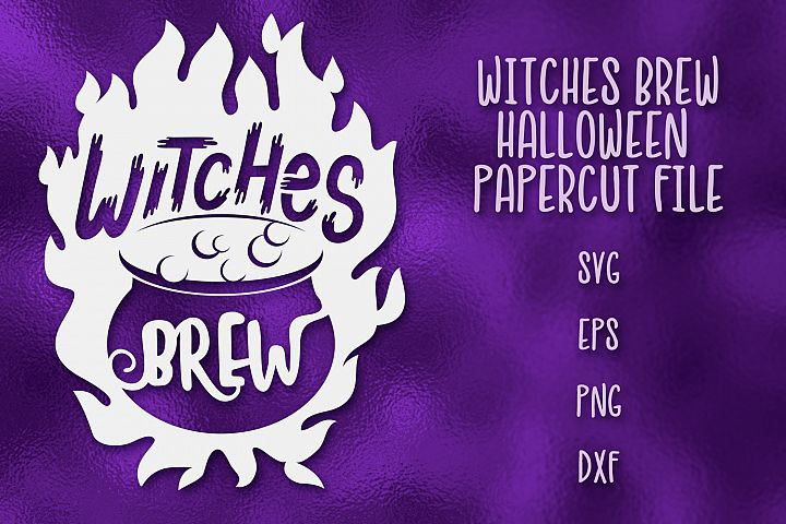 Witches Brew Halloween SVG Papercut File