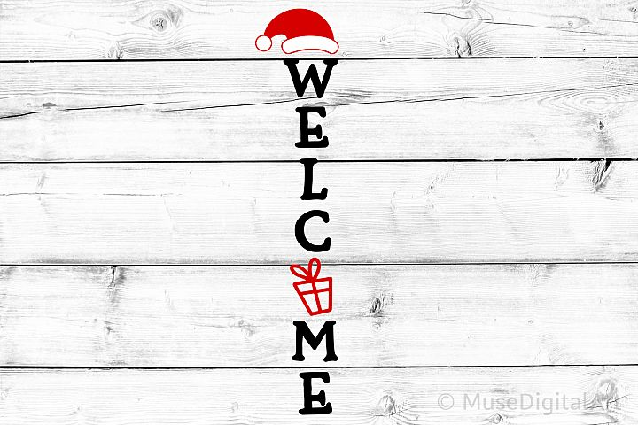 Christmas Porch Sign Svg, Welcome Svg, Merry and Bright Svg