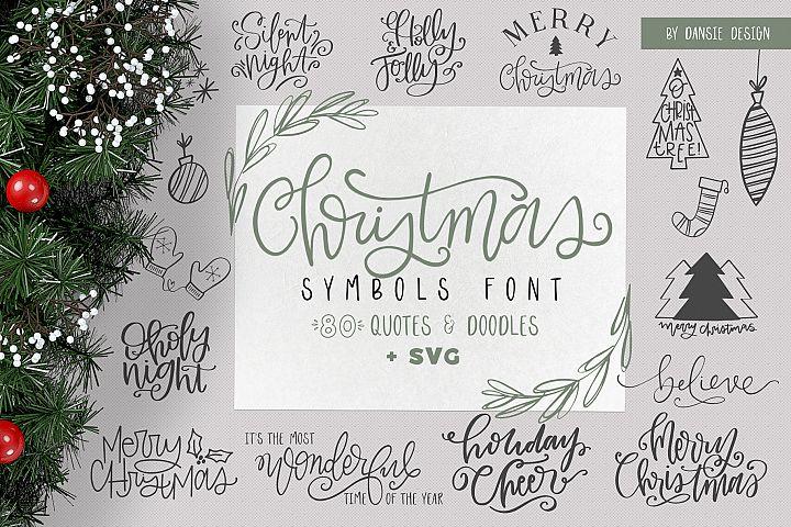 Christmas Symbols Font - Volume 2
