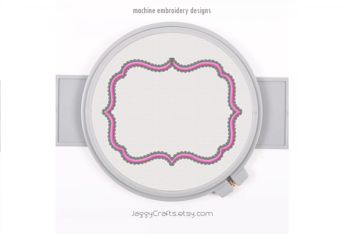 Fancy Decorative Rectangle Applique Monogram Font Frame