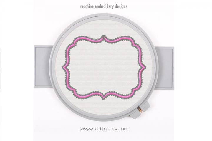 Fancy Decorative Rectangle Applique Monogram Font Frame