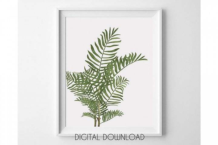 Palm Leaves Print, Tropical Leaves Print, Palm Tree Wall Art