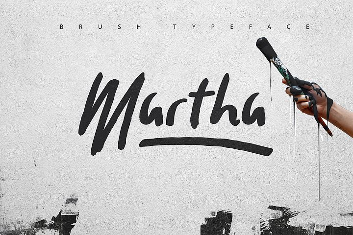 Martha Brush Typeface 30 OFF