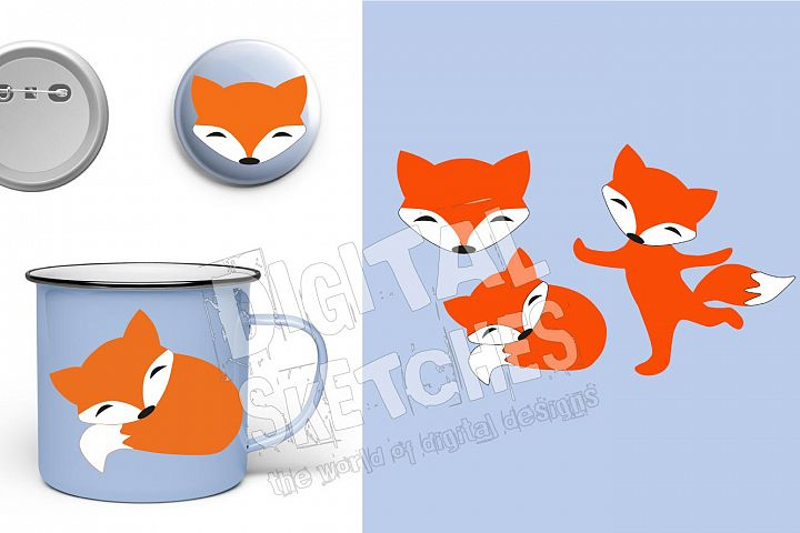 Fox Cut File, Fox Head Cut File, Fox SVG, Fox Vector