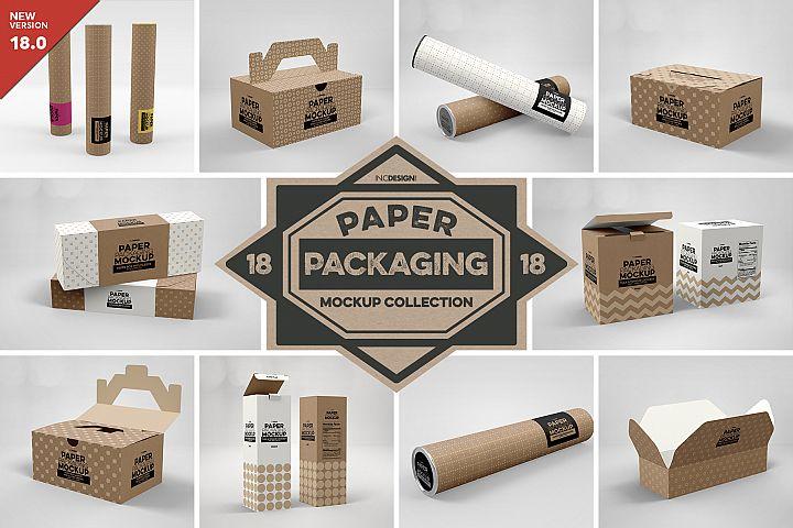 VOL. 18 Paper Box Packaging Mockups