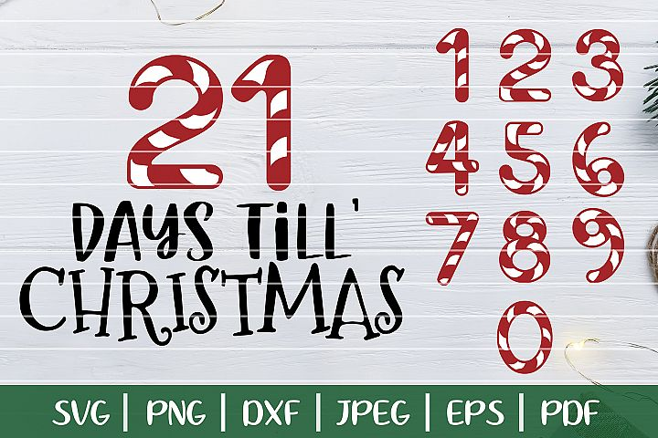 Days Until Christmas SVG, Christmas Countdown SVG