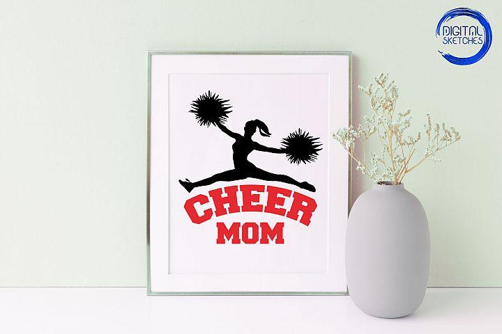 Cheerleader Vector, Cheer Mom SVG, Sport SVG, Cricut