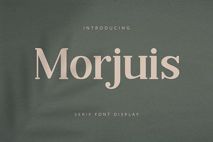 MORJUIS - Serif Font Typeface