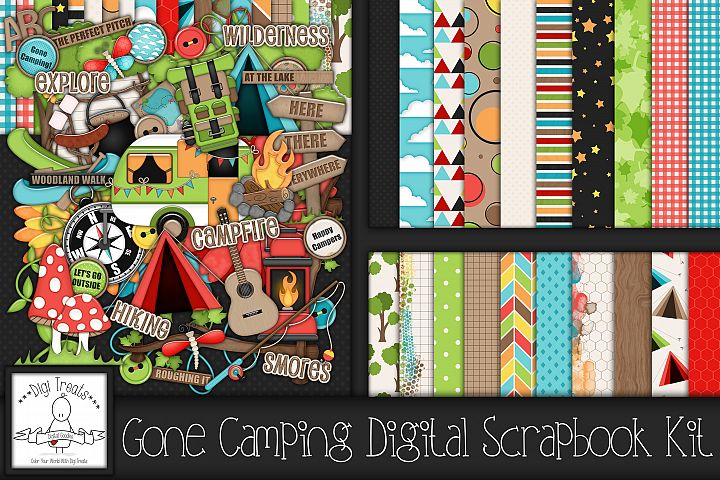 Gone Camping Digital Scrapbook Kit