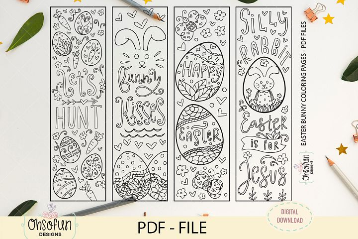 Easter bunny quote coloring pages, PDF files