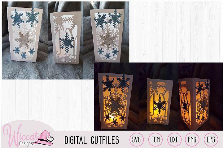 Joy Christmas lantern template,