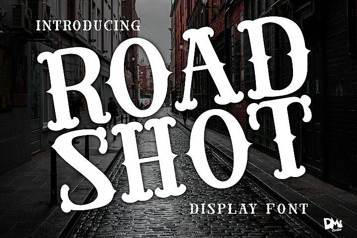 Road Shot - Display VIntage Font
