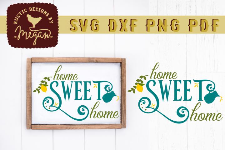Home Sweet Home Lemon Summer Wood Sign SVG DXF Cut File