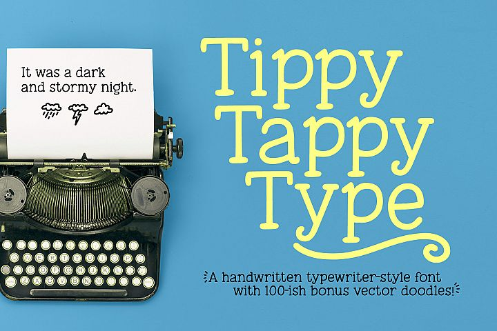 Tippy Tappy Type - a hand-made typewriter-ish font!