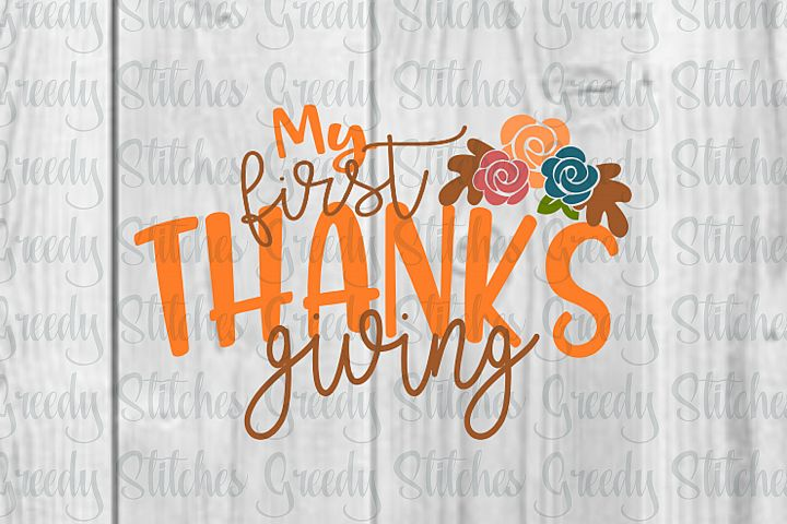 My First Thanksgiving SVG, DXF, EPS, PNG