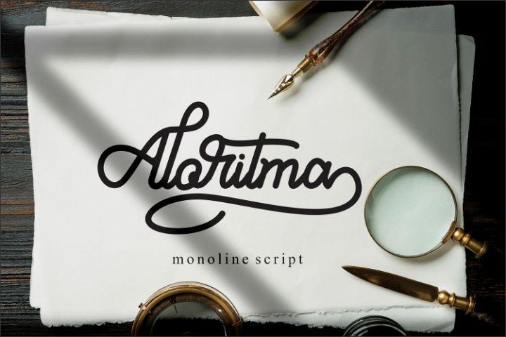 Aloritma - Monoline Script