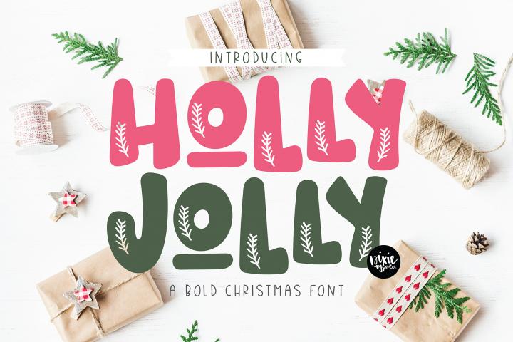 HOLLY JOLLY a Bold Christmas Font