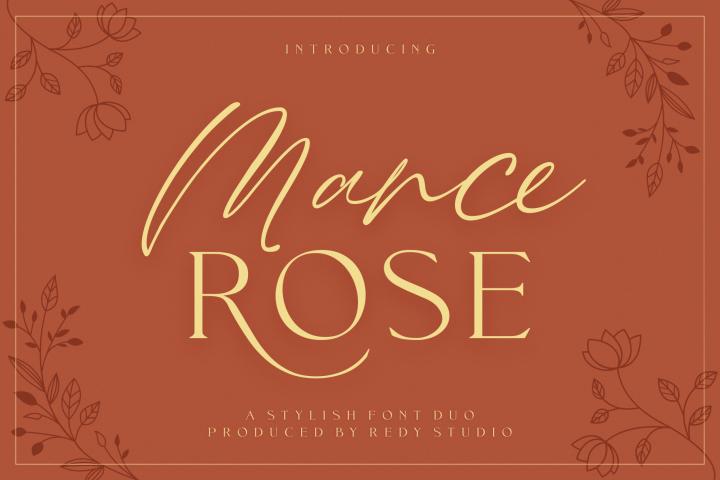 FontDuo | Mance Rose