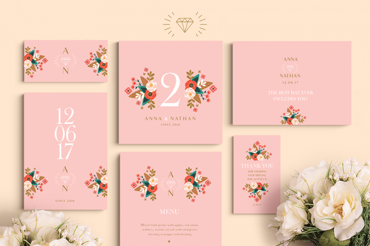 Peach Wedding Set