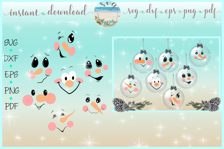 Free Svgs Download Snowman Face Bundle Svg Dxf Eps Png Pdf Files For Cricut Free Design Resources