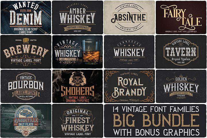 Big Bundle - 14 fonts