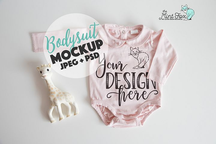 Baby Girl Mockup | Kids New Born Bodysuit Mock Up