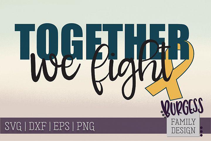 Together we fight | awareness | SVG DXF EPS PNG