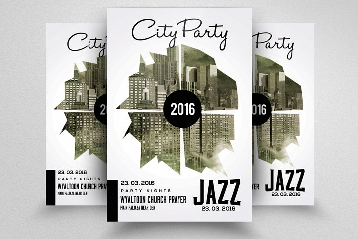 City Jazz Music Party Flyer
