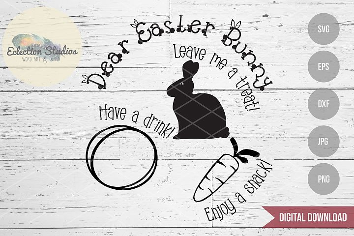 Easter SVG, Carrots for the Easter Bunny, Easter Plate SVG