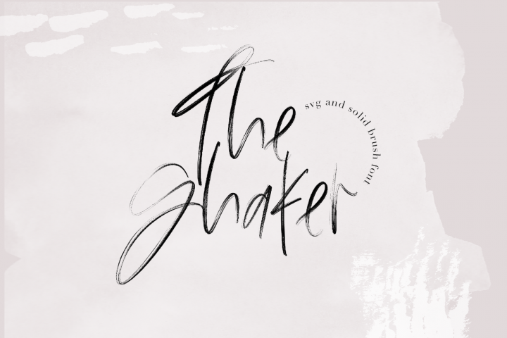 The Shaker - SVG & Regular OTF Brush Font