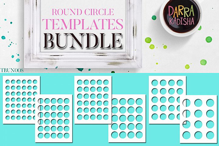 Round Circles Templates Bundle Vol. 8