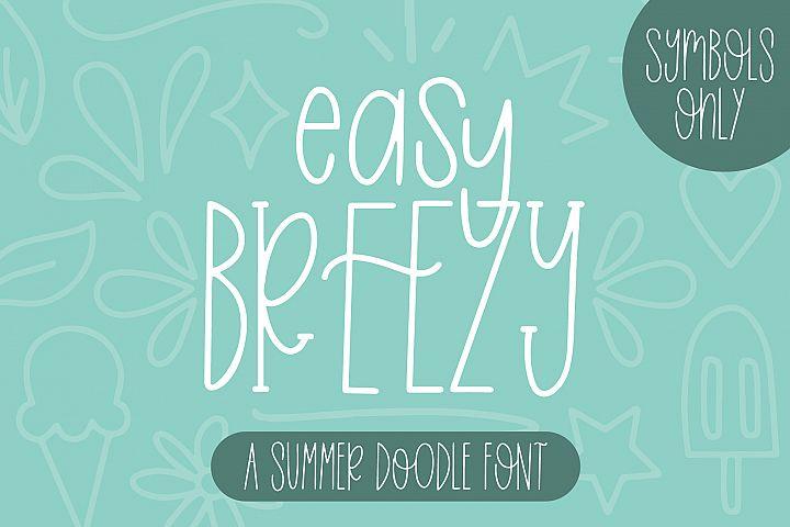 Easy Breezy, Summer Doodle Font