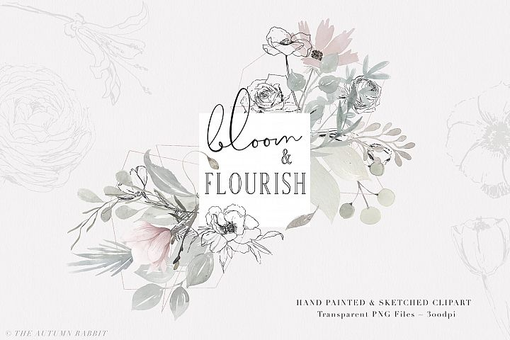 Bloom & Flourish - Floral Clipart Set