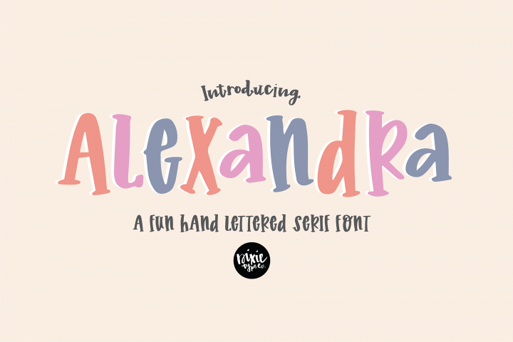 Alexandra a Hand Lettered Serif Font