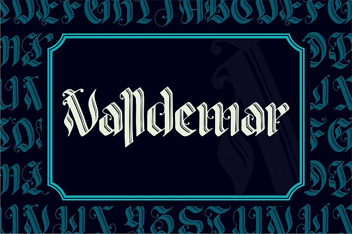 VALLDEMAR Blackletter