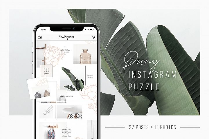 Peony Instagram Puzzle 11 Photos