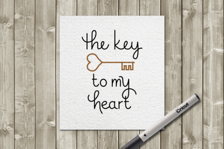 Key to my Heart SKETCH Single Line Pen & Foil Quill SVG