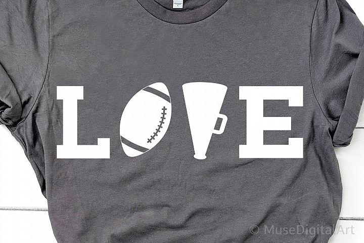 Football Love Svg, Football Svg, Cheer Svg, Cheerleader Svg