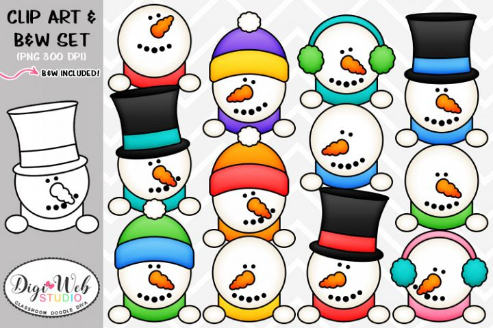 Clip Art / Illustrations - Snowman Toppers