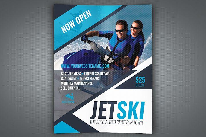 Jet Ski Flyer Template
