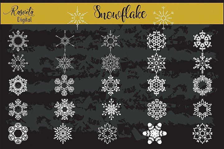 Christmas Decor Snowflake Clipart snowflake silhouette