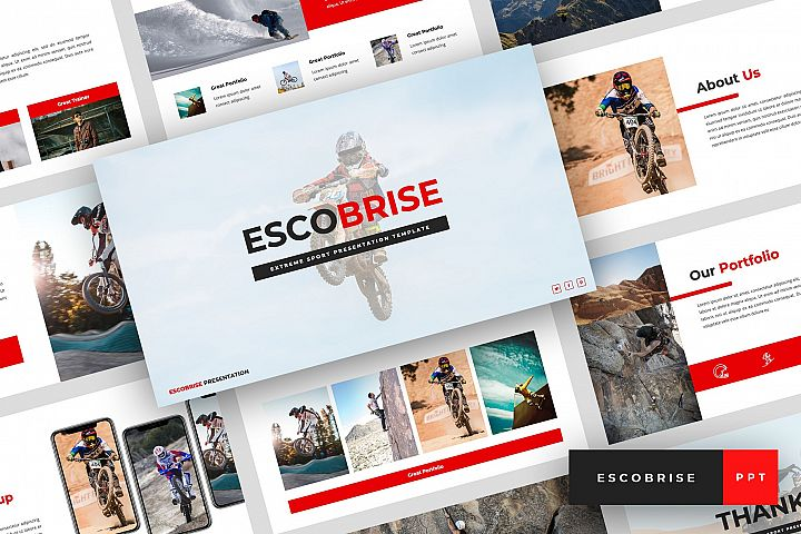 Escobrise - Extreme Sport PowerPoint Template