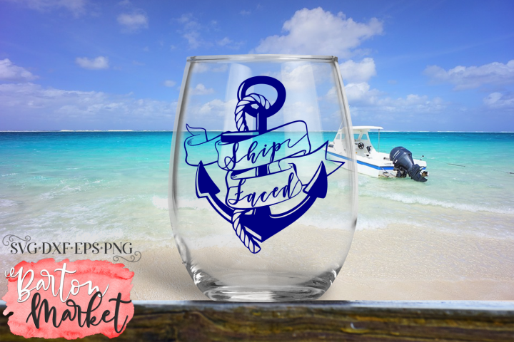 Ship Faced SVG DXF EPS PNG