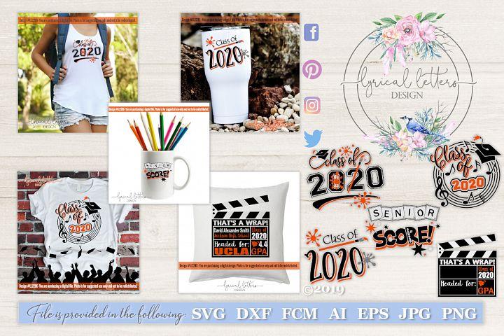 Class of 2020 Graduation Bundle of 6 SVG DXF Cut Files LL220