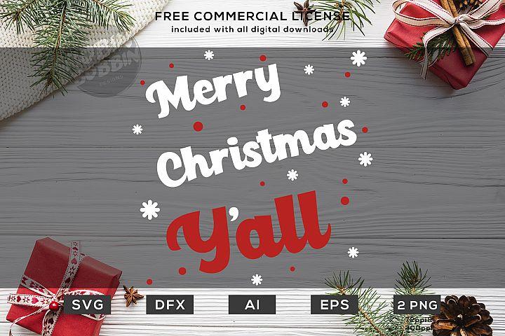 Merry Christmas YAll - Christmas SVG File