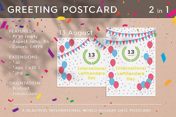 August 13 - International Lefthanders Day