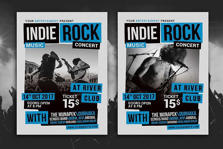 Indie Rock Music Concert Flyer